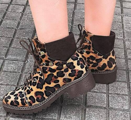 Bota Coturno Animal Print Quiz