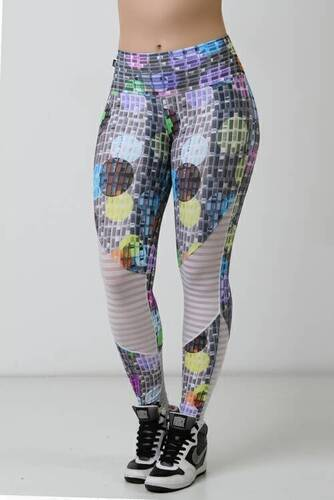 LEGGING FITNESS SUPPLEX LIGHT ESTAMPADA DIGITAL COM TELA