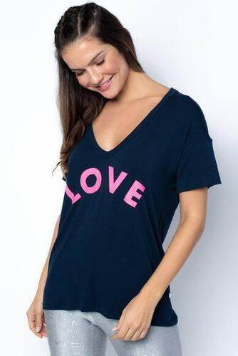 Camiseta Fitness Spicy-Marinho/Silk Love Torto