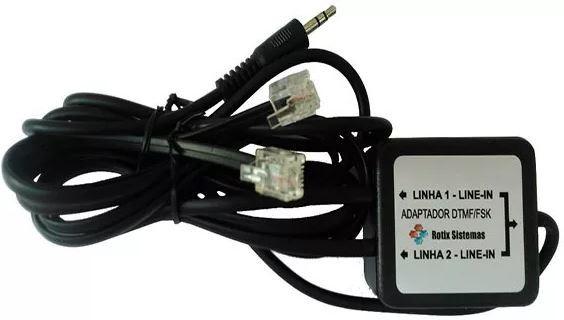 kit ( placa de som usb + Bina Identificador De Chamadas - Grava(mp3) -2 linhas )