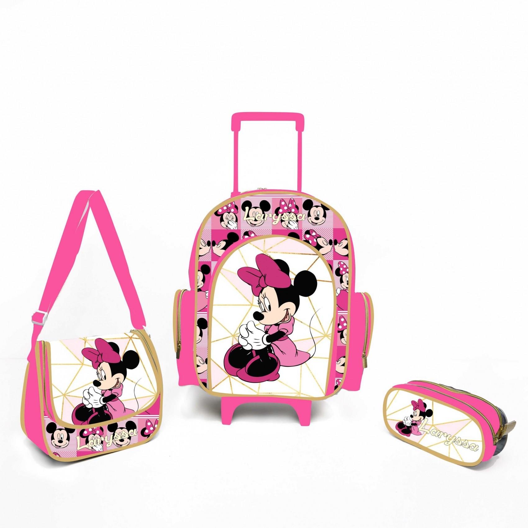 c46abf48d Comprar Kit Escolar personalizado Minnie Rosa - Bolsas, Mochilas ...