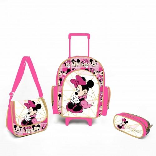 Kit Escolar personalizado Minnie Rosa