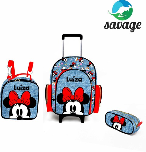 Kit Mochila Escolar Personalizada Minnie