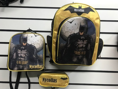 Kit Escolar personalizado Batman