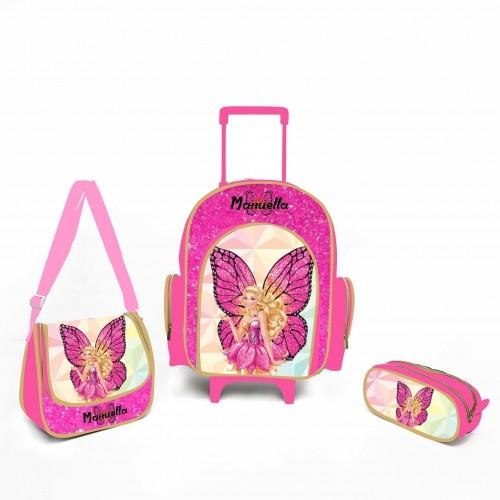 Kit escolar personalizado Barbie Borboleta