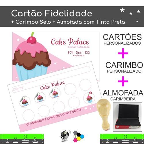 Cartão Fidelidade + Carimbo + Almofada Carimbeira