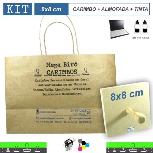 Kit Personalizar Sacolas Nº 2 - Carimbo + Almofada + Tinta