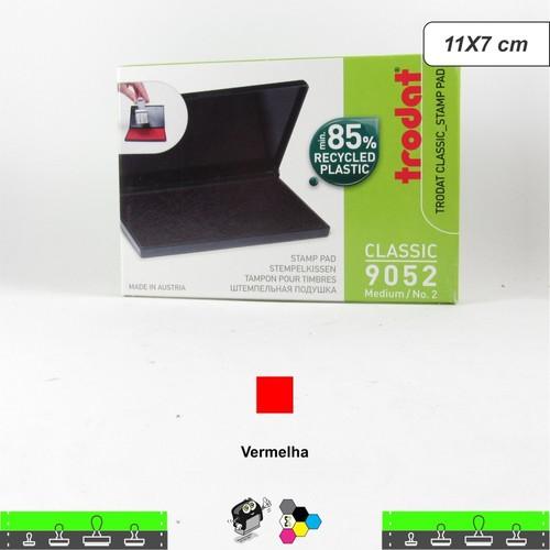 Almofada Para Carimbos Tinta Vermelha - 11x7 cm Trodat 9052