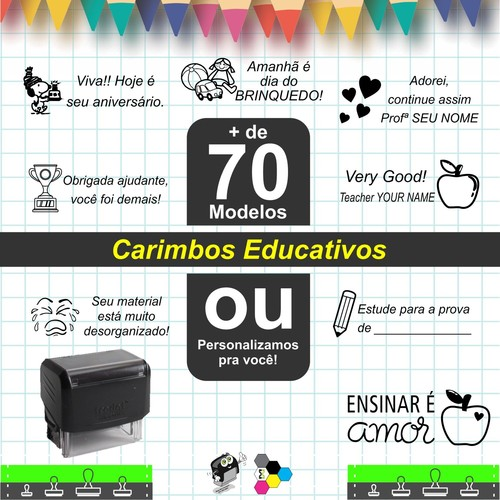 Carimbo Pedagógico Personalizado para Professores