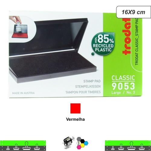 Almofada Para Carimbos Tinta Vermelha 16X9 cm Trodat 9053