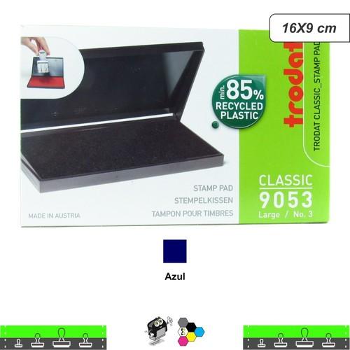 Almofada Para Carimbos Tinta Azul 16X9 cm Trodat 9053