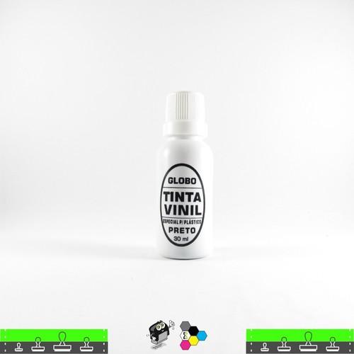 Tinta Vinil de Secagem Instantânea 30 ml Preta