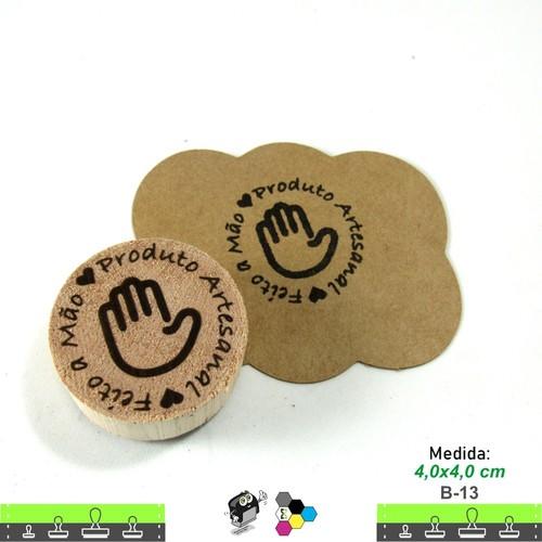 Carimbos Bonitos de Madeira, feito a mão produto artesanal - B13
