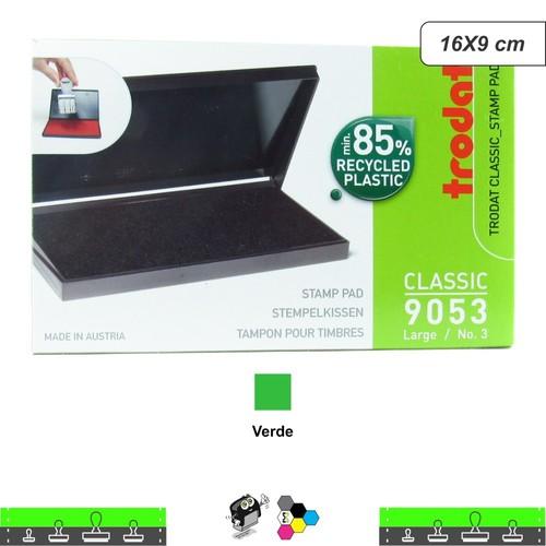 Almofada Para Carimbos Tinta Verde 16X9 cm Trodat 9053