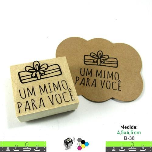 Carimbos Bonitos de Madeira, Um Mimo para Você - B38