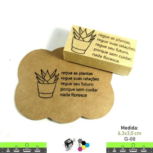 Carimbos Bonitos de Madeira, Cactos e Suculentas - G08