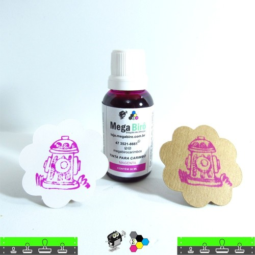 Tinta Magenta para carimbo - 30 ml