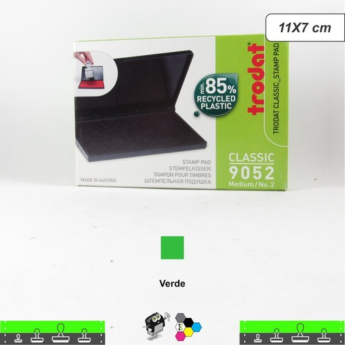 Almofada Para Carimbos Tinta Verde - 11x7 cm Trodat 9052