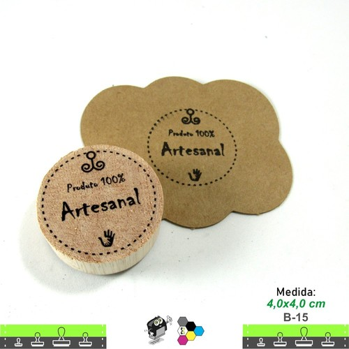 Carimbos Bonitos de Madeira, Produto 100% artesanal - B15