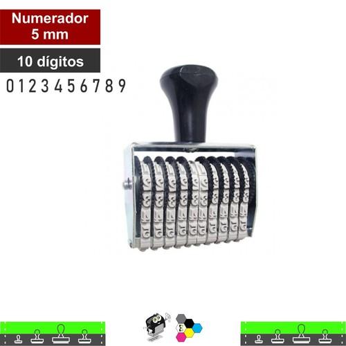 Carimbo Numerador 5mm 10 Fitas