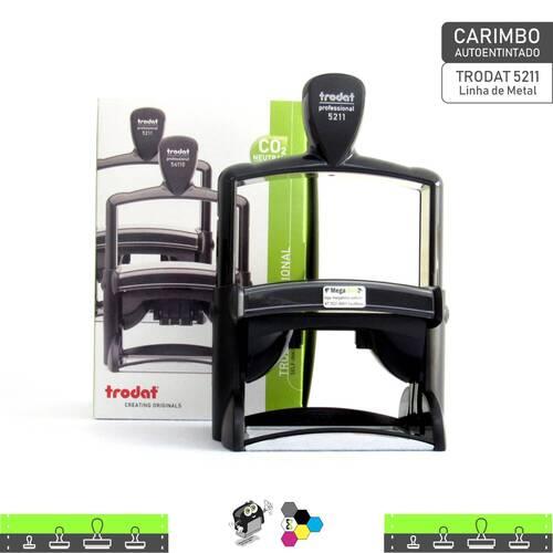 Carimbo Autoentintado TRODAT 5211 Linha de Metal