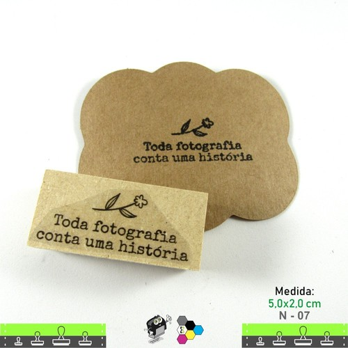 Carimbos Bonitos de Madeira, Linha Artesanal Flor e Frase Toda fotografia conta uma história - N 07