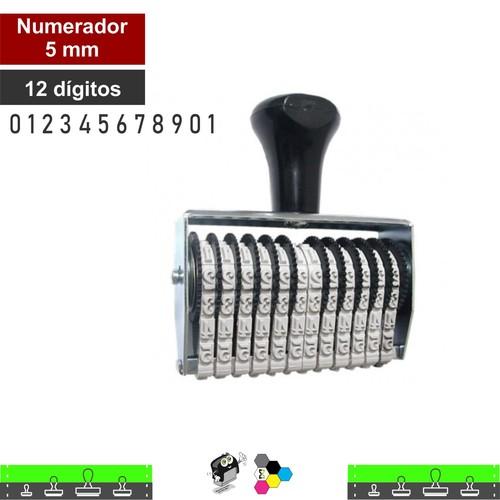 Carimbo Numerador 5mm 12 Fitas