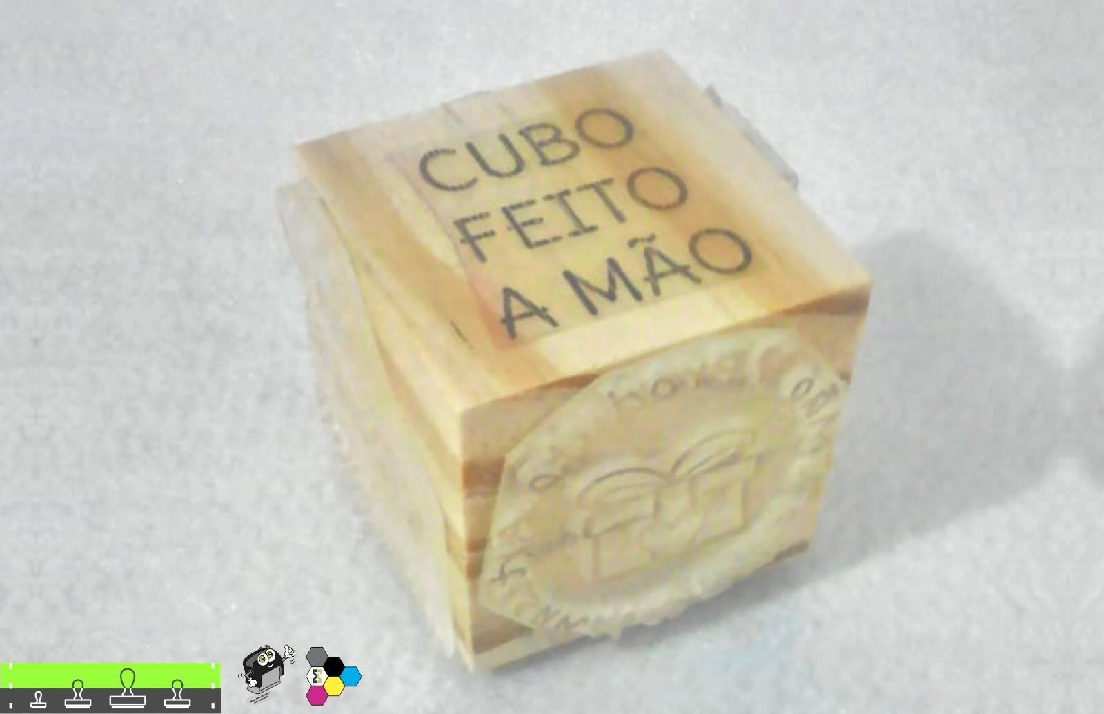 Carimbos Cubo 5x1 Tema Feito a Mão