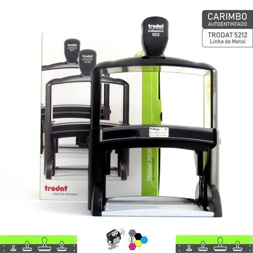 Carimbo Autoentintado TRODAT 5212 - Linha de Metal