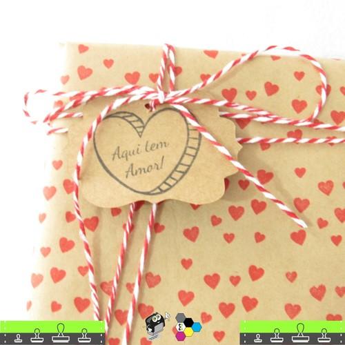 02 Carimbos com desenho de Corações e Estrelas