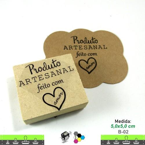 Carimbos Bonitos de Madeira, Produto Artesanal, feito com amor - B02