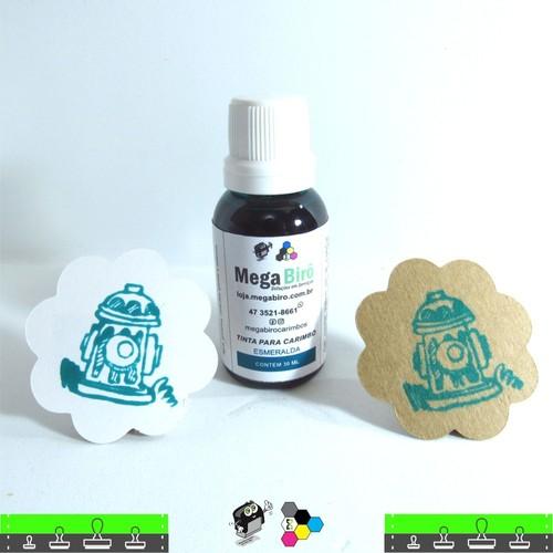 Tinta Verde Esmeralda para carimbo - 30 ml