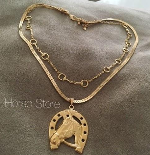 Colar Luxo Bridão - Cavalo e Ferradura