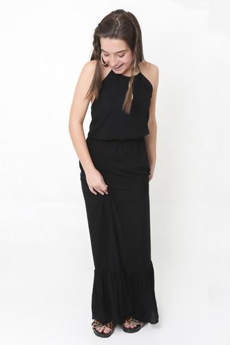 Vestido Longo Lacinho Preto
