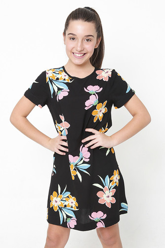 Vestido Botão Floral