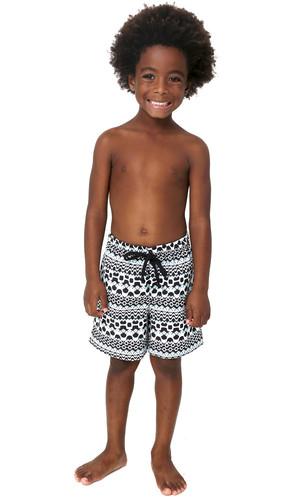 Short Infantil Cordão Calçadão Preto