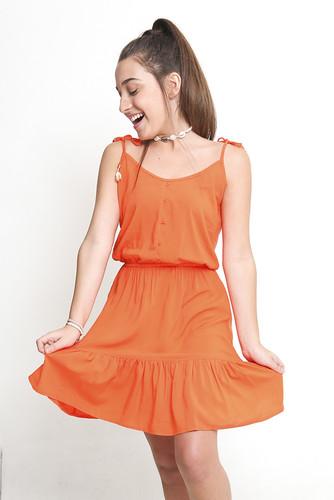 Vestido Azelha Laranja