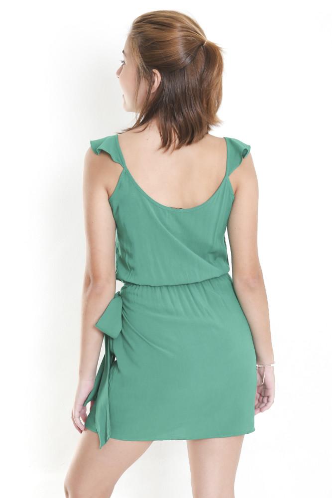 Vestido Azelha Laço Verde