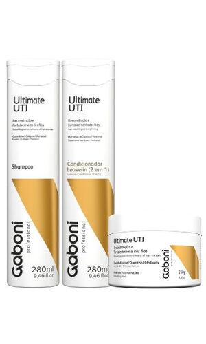 KIT Ultimate UTI Shampoo 280ml+ Mascara 250g + Condicionador Leave-In(2 em 1)