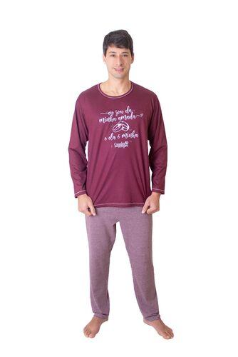 Pijama Longo Masculino Eu Sou da Minha Amada