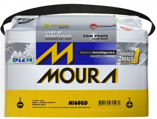 Bateria 60AH AX Moura (Venda condicionada à devolução da bateria inservível)