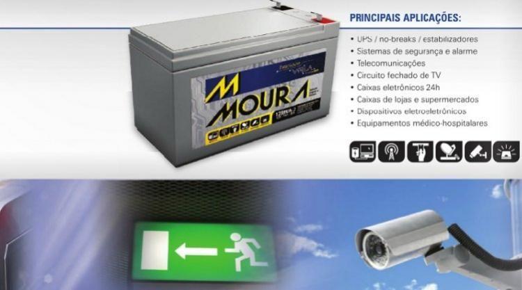 Bateria 12MVA-7 MOURA ESTACIONARIA NOBREAK (Venda condicionada à devolução da bateria inservível)