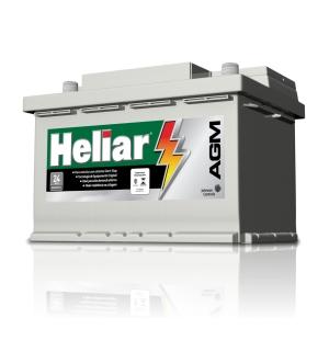 Bateria 80 heliar agm start-stop (Venda condicionada à devolução da bateria inservível)