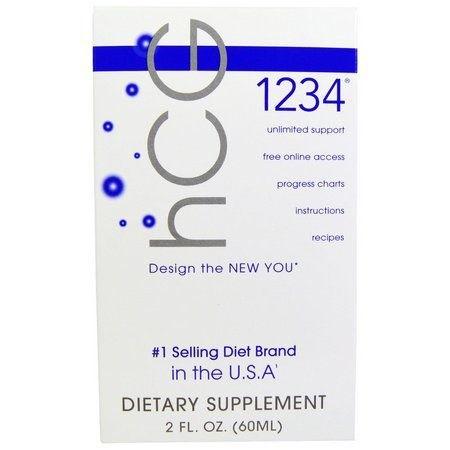Diet Drops 1234 Sublingual (HCG) - Creative Bioscience - 60 ML