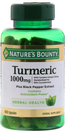 Tumeric Curcumin 1000 mg - Nature´s Bounty - 60 Cápsulas