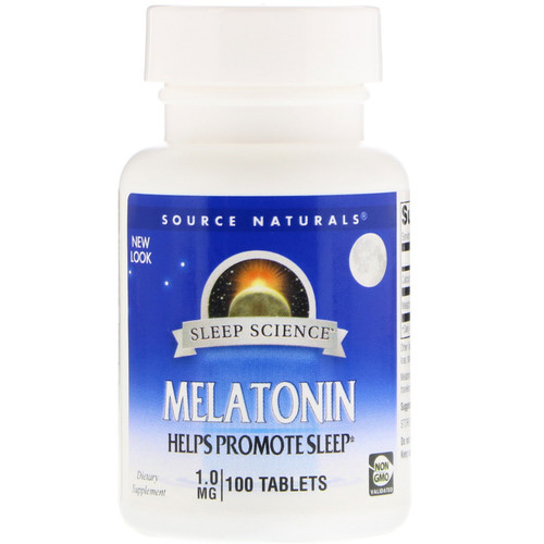 Melatonina 1 mg - Source Naturals - 100 comprimidos