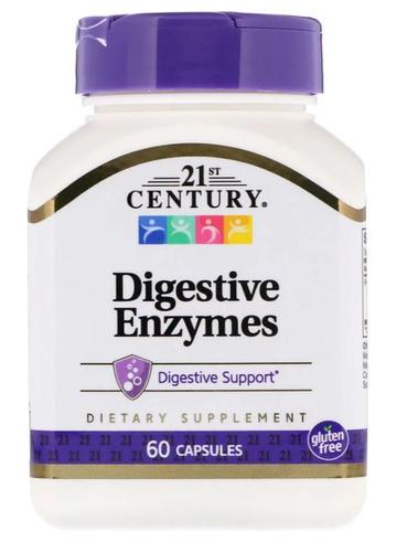 Enzimas Digestivas - 21st Century - 60 Cápsulas