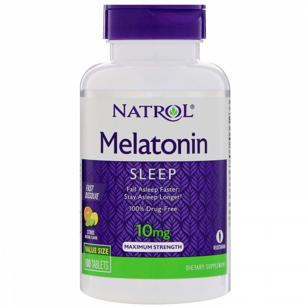 Melatonina 10 mg Fast Dissolve sublingual sabor CITRUS - Natrol - 100 comprimidos