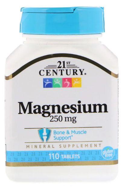 Magnésio 250 mg - 21 st Century - 110 Tablets