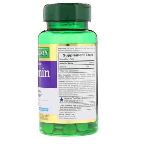 Melatonina 5 mg Liberação Rápida e Gradual - Nature´s Bounty - 60 Tablets
